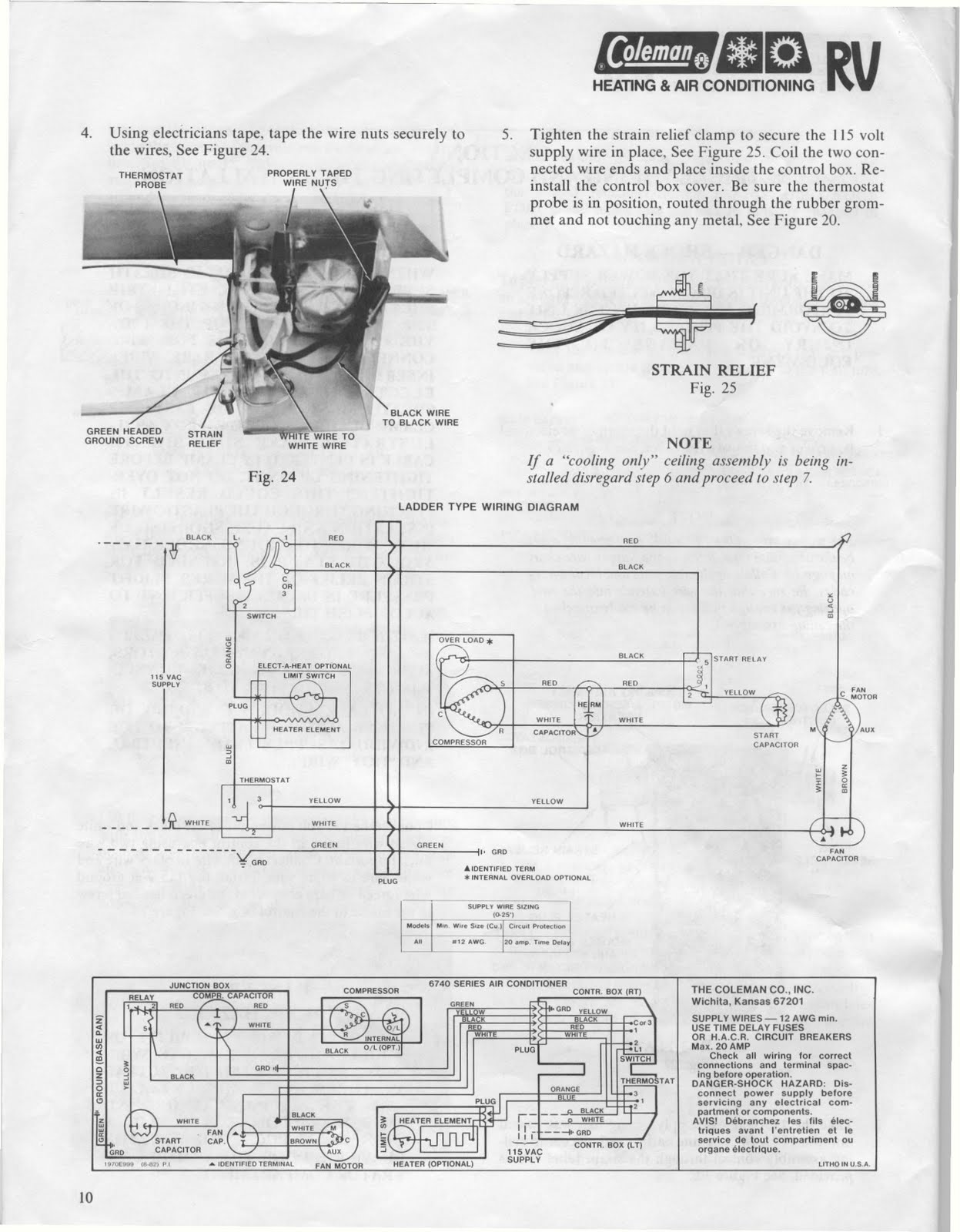 Motorhome Wiring Schematic 1willwander Coleman Air Conditioner Installation